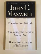 John C Maxwell 3 Books in 1 Winning Attitude Developing Leaders Influence HC