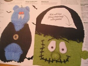 KNITTING PATTERN FOR TRICK OR TREAT.TOYS.