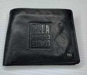 BILLABONG BRAND NEW MENS RFID GRIT BLACK FLIP LEATHER WALLET