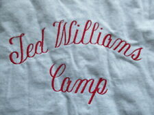 Original TED WILLIAMS No. 9 BOSTON RED SOX Camp Button-Down (Boys XL) Jersey