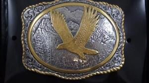 CRUMRINE Gold and Silver Tone Eagle Buckle 38046