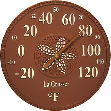 "104-158M La Crosse 8"" Indoor/Outdoor Dial Thermometer - Maya"
