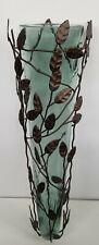 """Large Hanging Glass & Metal Art Wall Hanging Sconce Vase 23"""""""