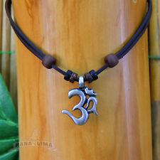 Lederkette Om Shiva Buddha Halskette Leder Surferkette Surferhalskette Yoga Goa