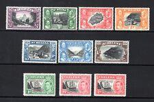 ST HELENA KGV 1934 sg114-120 + KGV1 1949 sg145-8 LIGHTLY & MOUNTED MINT CAT £24+