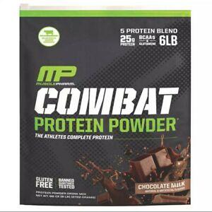 MusclePharm Combat Protein Powder 6 lbs,  Chocolate Milk Flavor expiration 4/24