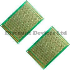 2x  70x90mm FR4 Single Side Copper Prototype PCB Matrix Board Epoxy Glass Fibre