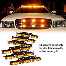 54X LED Emergency Vehicle Strobe Lights Bars Warning Deck Dash Grille Amber