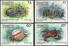 Grenadines of St Vincent Coquillages Shell Muscheln Non Denteles Imperfs ** 1985