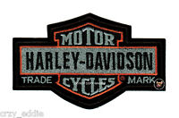 HARLEY DAVIDSON NOSTALGIC LONG BAR SHIELD VEST PATCH  * MADE IN THE USA *  BIKER