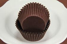 500x, 2.25'' Paper Cupcake Muffin Liners, Baking Cups, Brown, Jumbo