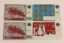 Starbucks Christmas Gift Card Set • Snowflake Family Decoration Tree • No Value