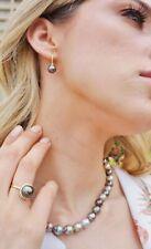 Tahitian South Sea 12mm AAA Pearl & Diamond Ring