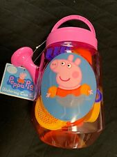 Peppa Pig Watering Can Sand Tool Set New with Tags