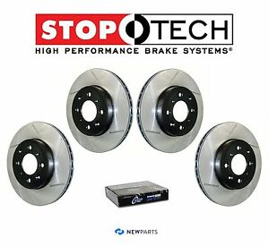 For Mazda 6 Lincoln MKZ Zephyr Front & Rear StopTech Slotted Brake Rotors Kit