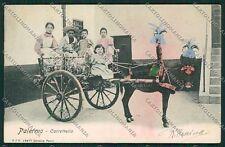 Palermo Città Carretto Siciliano cartolina QQ0452