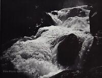 1950s Vintage ANSEL ADAMS Yosemite Valley Cascades Photo Engraving Art 11X14