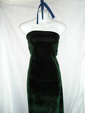 1.5  MTRS DARK GREEN  VELVET / VELOUR FABRIC TWO WAY STRECH 58INCHES WIDE