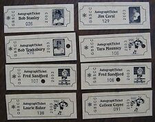 (8) Autograph Tickets from Greater Boston Sports Collector's Club Show
