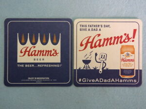 Beer Bar Coaster ~ HAMM'S Brewing Co ~ Give Dad for Father's Day ~ Milwaukee, WI