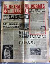 >L'AUTO-JOURNAL n°68 du 12/1952; Retrait de permis illégal !/ 4 CV/ Prairie