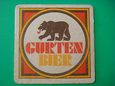 Vintage Beer Coaster ~ AG Brewery Gurten Bier ~ Berne, SWITZERLAND; Founded 1864