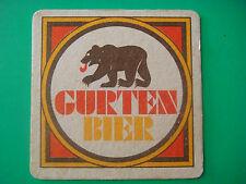 Vintage Beer Coaster ~ AG Brewery Gurten Bier ~ Berne, SWITZERLAND; Founded 1864