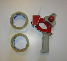 "ONE NEW HEAVY DUTY HANDHELD TAPE GUN DISPENSER AND 2 ROLLS OF 2"" TAPE"