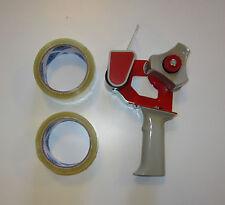 One New Heavy Duty Handheld Tape Gun Dispenser And 2 Rolls Of 2 Tape