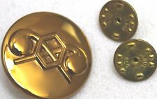 US chemical corps brass collar insignia pin back w clutches each R7081