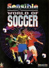 "Sensible World Of Soccer ""Sensible Software"" 1995 Magazine Advert #5768"