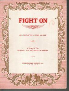 Fight On 1928 University of Southern California Trojans - Football Sheet Music