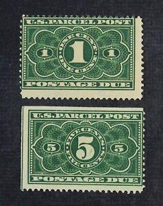 CKStamps: US Parcel Post Stamps Collection Scott#JQ1 JQ3 Mint H OG Thin