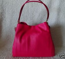 Coach Madison Pink Ruby Leather Phoebe Handbag Purse Shoulder Bag Tote New Small