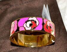 """NWT Kate Spade """"Budding Genius"""" Pink Blossom Idiom Bangle Bracelet WBRU8614 $98"""