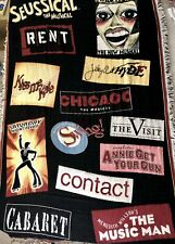 Broadway Musical Collage Throw Blanket 64 x 42