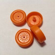 Orange Pinewood Derby Lightly Lathed & polished Speed Wheels ALL LEGAL BSA