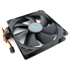 14cm 140mm Black PC Fan Cooler Fan Case PC Computer Cooling 3 Pin + 4 Pin Molex