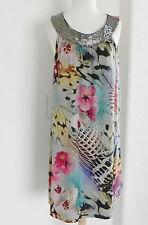 Argenti Dress  Multicolored Size 10 Knee Length Tunic Bead & Sequin Trim