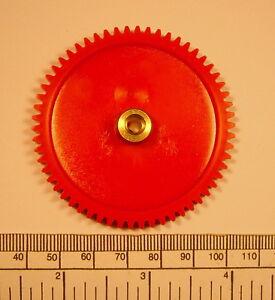 Gear - brass hub 4mm bore 58 teeth - with grub screw
