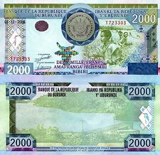 BURUNDI 2000 Francs Banknote World Paper Money UNC Currency Pick p-47 Bill Note