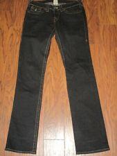 True Religion Billy Women's Jeans Black  Flap Pockets Sz 29 (30x34) Stretch