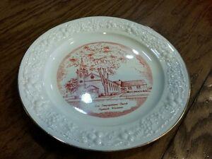 Eggshell Theme Homer Laughlin plate.1st congressional church Plymouth Wisconsin
