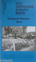 Old Ordnance Survey Map Chigwell Station Essex 1914 Sheet 69.16  New