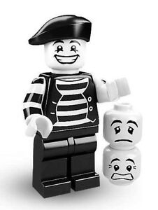 Unopened LEGO® SERIES 2 -8684-Mime-minifigure (#9) Sealed Foil Pouch