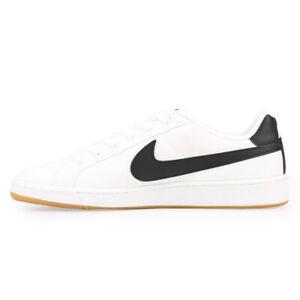 Nike Court Royale Canvas Men's Trainers Shoes White Black Gum
