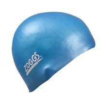 Zoggs Junior Silicone Swimming Cap - Light Blue