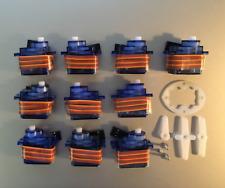 10 x 9g SG Servo Motor 90 Decigrams, Ø5mm Tower, Light Pro & Hobby FSEN