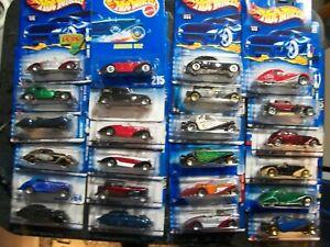 Hot Wheels Lot of 24 Mercedes Bugatti 31 Doozie Auburn Cord Talbot Corsair  #15