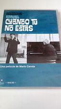 """DVD """"CUANDO TU NO ESTAS"""" COMO NUEVA RAPHAEL MARIO CAMUS"""